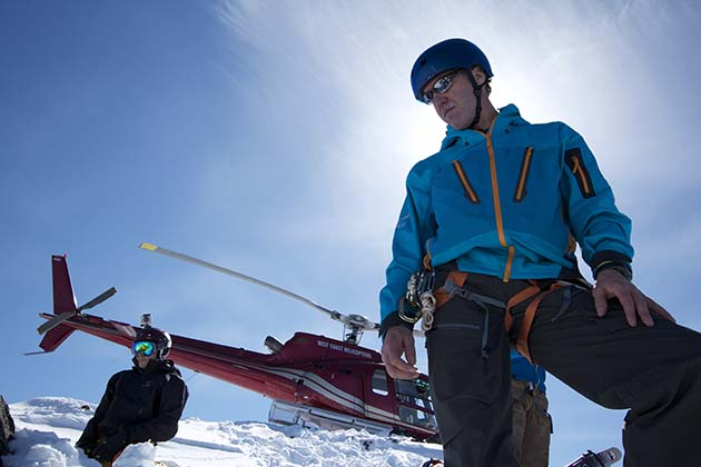 Heli accessed ski mountaineering and backcountry ski and snowboard courses