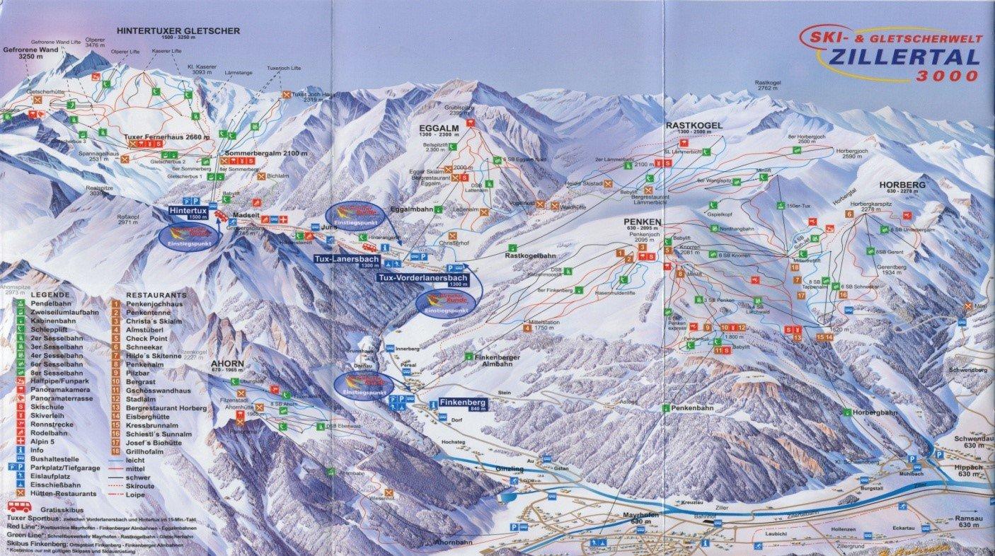 Zillertal-map