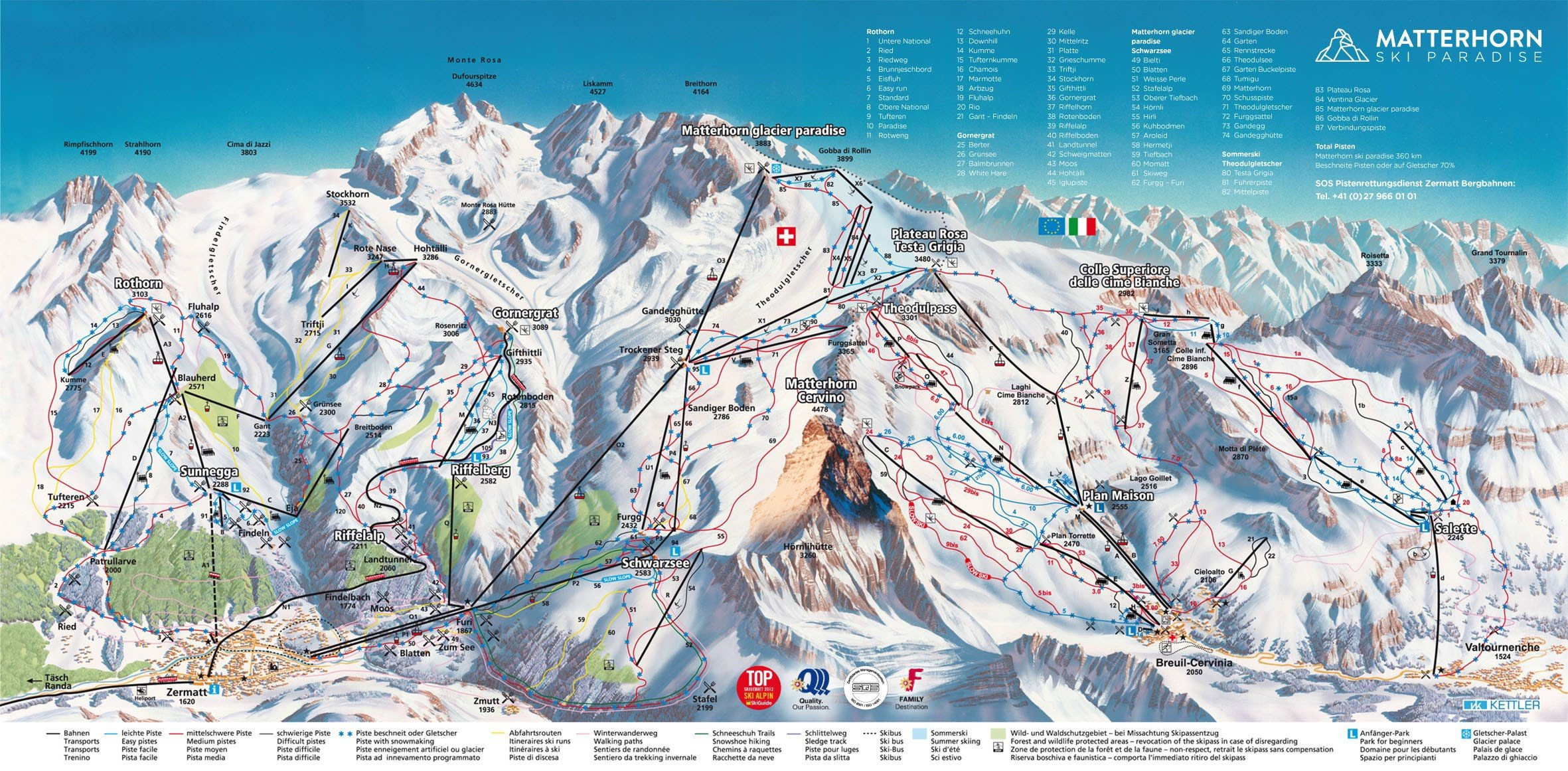 Zermatt Trail Map